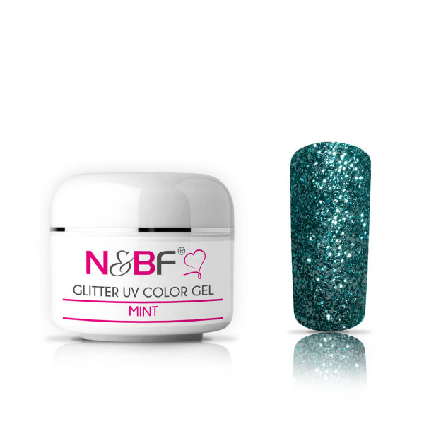 Nails-and-Beauty-Factory-Glitter-UV-Color-Gel-Farbgel-Mint