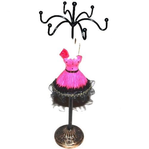 Schmuckpuppe kurzes Kleid Pink
