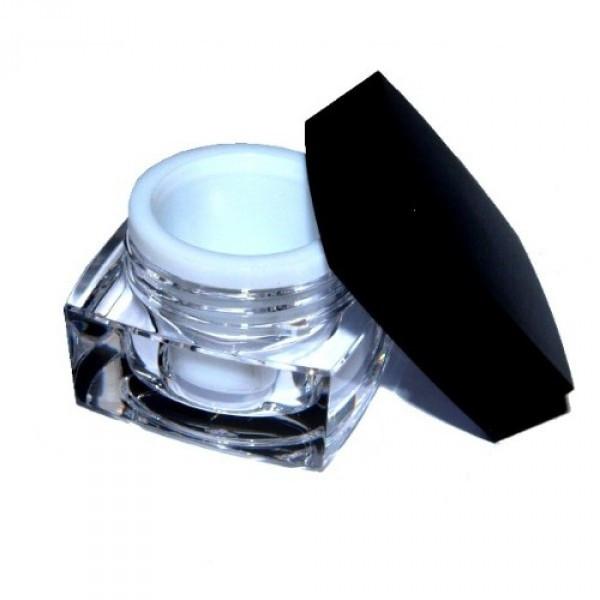 Kosmetikdose, Designer Geldose leer 15ml schwarz